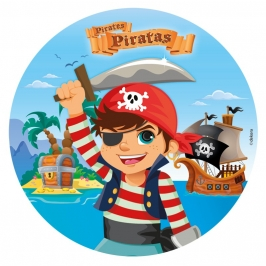 Papel de oblea Piratas Modelo B