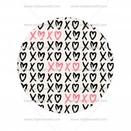 Papel de oblea San Valentín Modelo E 15 cm