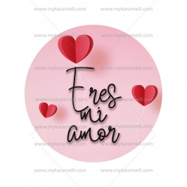 Papel de oblea San Valentín Modelo Eres mi amor 15 cm