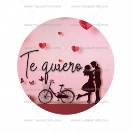 Papel de oblea San Valentín Modelo Te quiero 15 cm