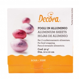 Papel para envolver dulces color rosa