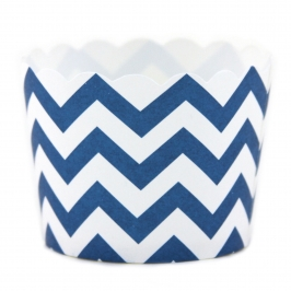 Party Candy cups azul chevron (24 uds)