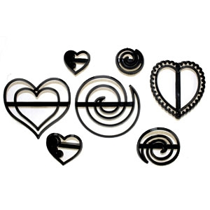 Patchwork cutter Swirls & Hearts