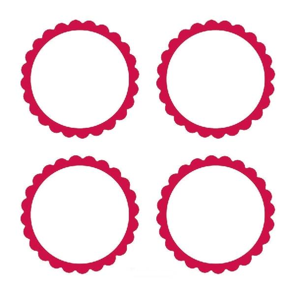 Pegatinas para bolsitas y tarros personalizables color rojo
