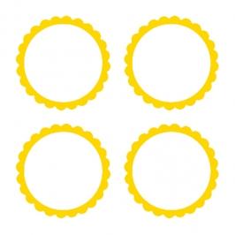 Pegatinas Personalizables Amarillas