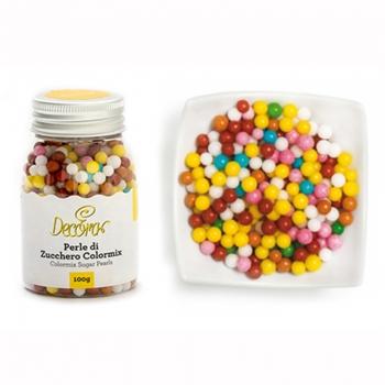 Perlas de azúcar multicolor