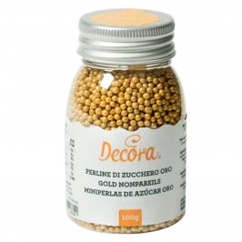 Perlas de Azúcar Oro Nacarado 4 mm