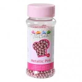 Perlas metálicas rosas 4 mm