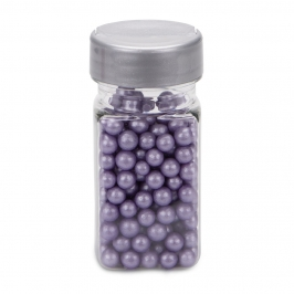 Perlas de Azúcar Lila Nacarado 6 mm