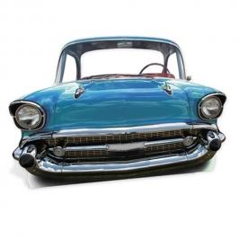 Photocall Coche Azul Antiguo 95cm