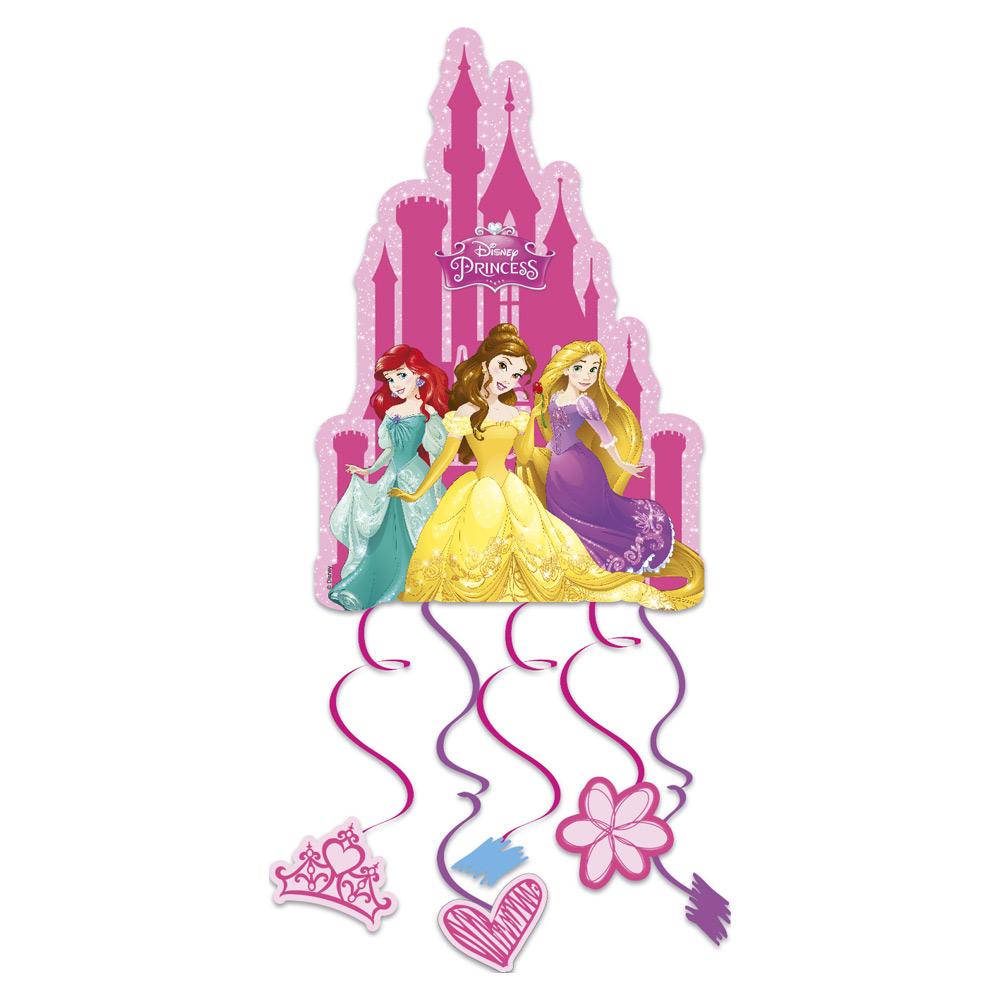 Piñata en la que aparecen 6 de las princesas Disney de 28 cm