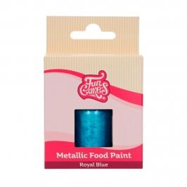 Pintura Comestible Azul Real Metalizado 30 ml