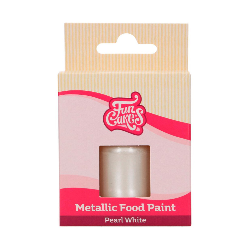 Pintura Comestible Blanco Perlado Metalizado 30 ml