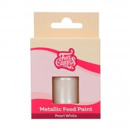 Pintura Comestible Blanco Perlado Metalizado 30 ml