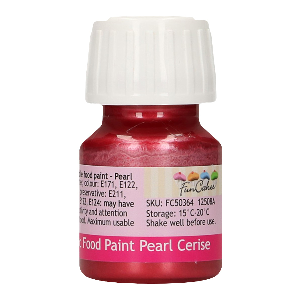 Pintura Comestible Cereza Metalizado 30 ml