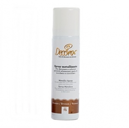 Pintura comestible en spray bronce metalizado 75 ml