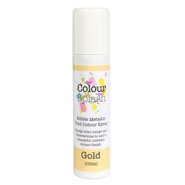 Pintura comestible en spray color oro 100ml