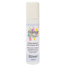 Pintura comestible en spray color plata 100ml