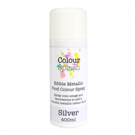 Pintura comestible en spray color Plata 400ml