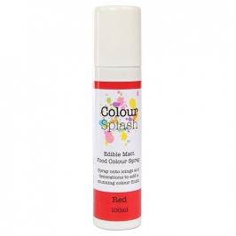 Pintura comestible en spray color rojo mate 100ml