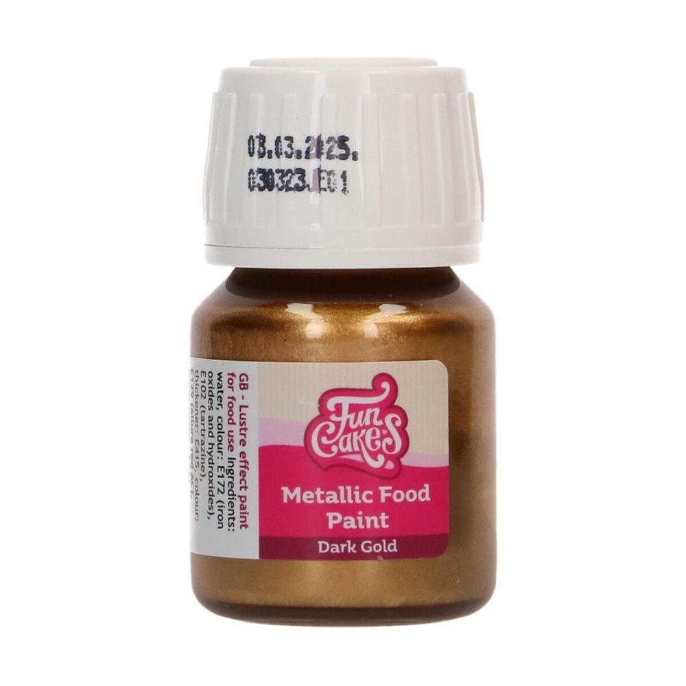 Pintura comestible Metallic Dark Gold