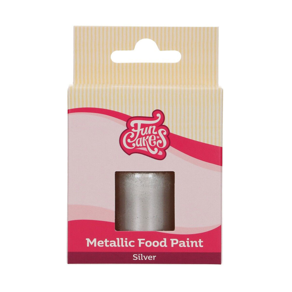 Pintura Comestible Plata Metalizado 30 ml