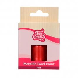 Pintura Comestible Rojo Metalizado 30 ml