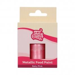 Pintura Comestible Rosa Bebé Metalizado 30 ml