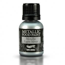 Pintura metálica comestible light Silver