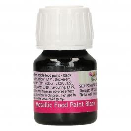 Pintura Comestible Negro Metalizado 30 ml