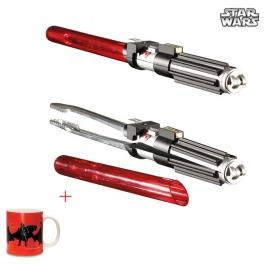 Pinzas Barbacoa Espada Laser Star Wars con taza de regalo