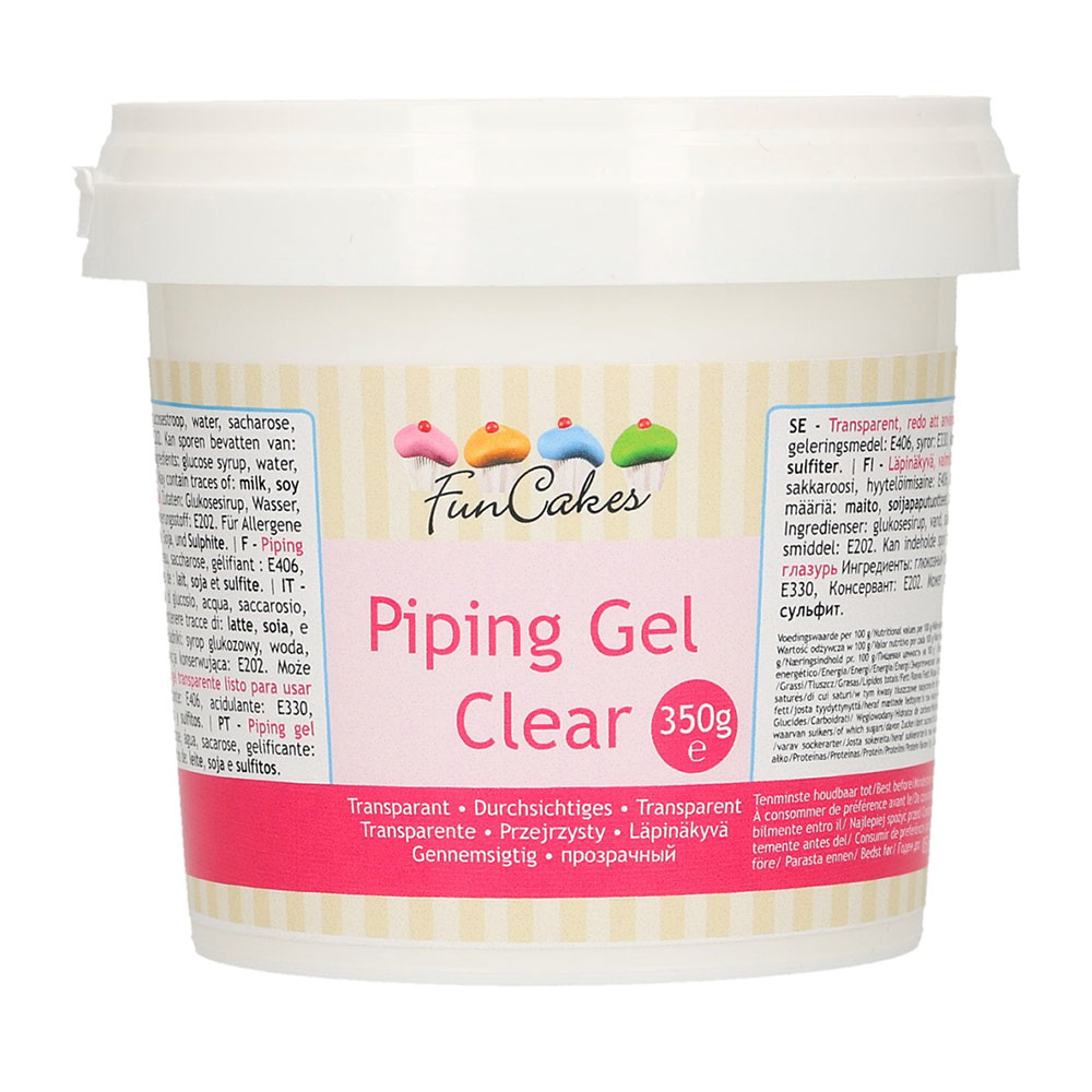 Piping gel de 350 gramos para conseguir diferentes acabados en tus dulces