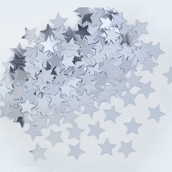 Confeti Estrellas Plateadas