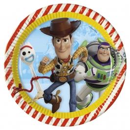 Juego de 8 platos Toy Story Disney 23 cm