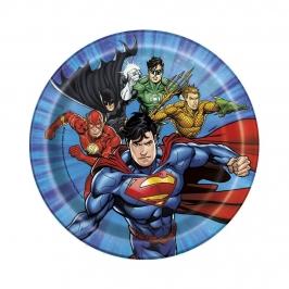 Platos de La Liga de la Justicia 17 cm
