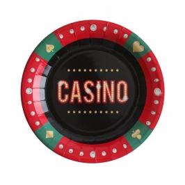 Platos de Papel Casino 10 ud