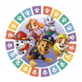 Platos de Papel Compostables Patrulla Canina 23 cm 8 ud