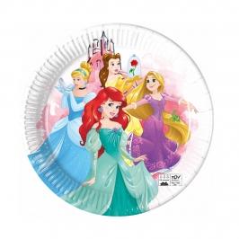 Platos de Papel Compostables Princesas Disney 23 cm 8 ud