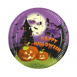 Platos de Papel Happy Halloween 8 ud