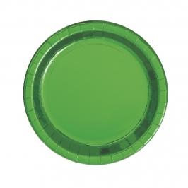 Platos de papel Verde Metalizado 17 cm