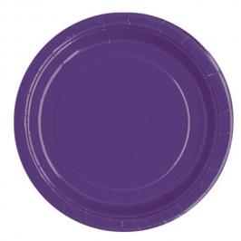 Platos de Papel Violeta 22 cm