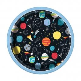 Juego de 8 Platos Espacio Estelar 17 cm