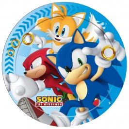 Juego de 8 Platos Sonic The Hedgehog 23 cm