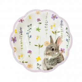 Platos Pascua Truly Bunny 19 cm 12 ud