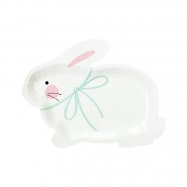 Platos en Forma de Conejo 8 ud.