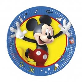 Platos de Papel Mickey Pals 19 cm 8 ud.