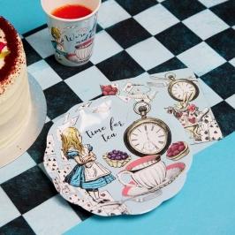 Juego de 12 Platos Truly Alice Borde de Conchas 17 cm