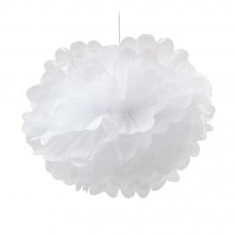 Pompón Color Blanco 25 cm