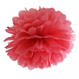 Pompón de Papel Color Rojo 35 cm
