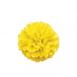 pompón amarillo 40 cm